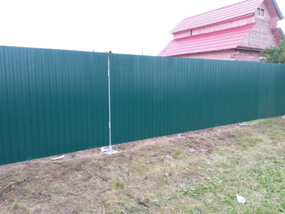 "профнастил С-8 ""зеленый мох"" RAL 6005"